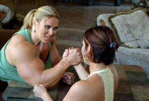 Gender equality in arm wrestling